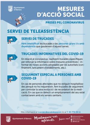 Reforcem els serveis d'Acció Social durant el confinament per garantir els serveis bàsics a la ciutadania